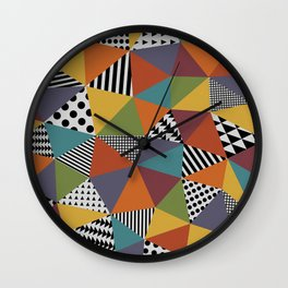 Colorful Geometry Wall Clock