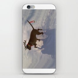 """DASHING THROUGH THE SNOW ...Christmas PLaY-Do'LPH"" from the photo series""My dog, PLaY-DoH"" iPhone Skin"