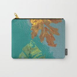 Two leaves, painted acrylic Carry-All Pouch