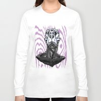 trex Long Sleeve T-shirts featuring TREX: MALE by Marques Cannon