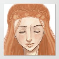 sansa Canvas Prints featuring Downwards by laurarts