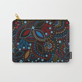 Scattering beads . Black background Country . Carry-All Pouch