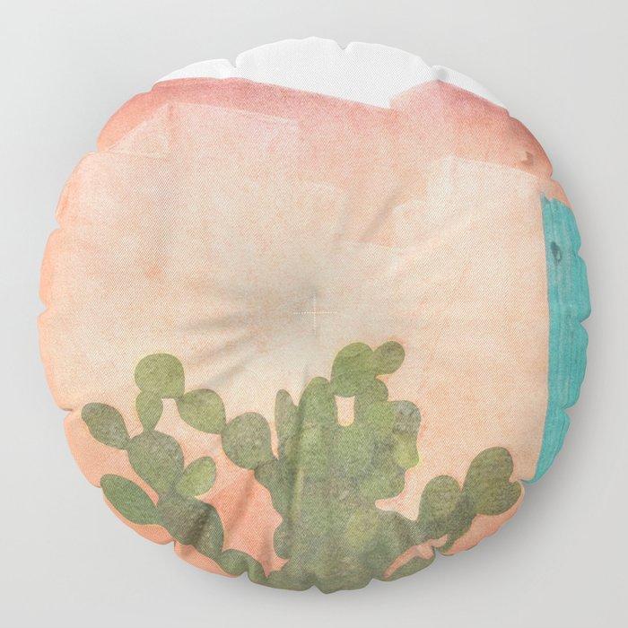 Strong Desert Cactus Floor Pillow