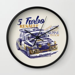 Legend of GROUP B: Renault 5 Turbo Wall Clock