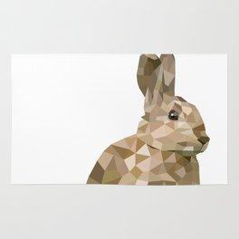 Rabbit Bunny  Geometric animal art Rug