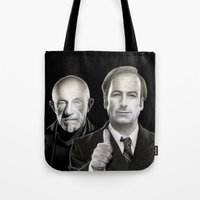 better call saul Tote Bags featuring Better call Saul by Giampaolo Casarini