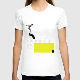 JUMP, Collage Art, Black and White photo, Graphic Art T-shirt