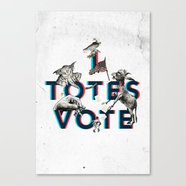 I Totes Vote Canvas Print