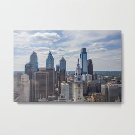 Philadelphia Skyline from Loews Metal Print