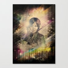 Girl : Music = Color : Light - VINTAGE Canvas Print