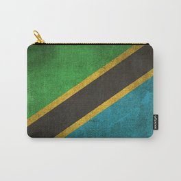 Old and Worn Distressed Vintage Flag of Tanzania Carry-All Pouch