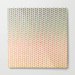 Geometric Melon Pattern Metal Print