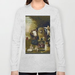 Classical Masterpiece 1833 'A Peaceable Kingdom' by Edward Hicks Long Sleeve T-shirt