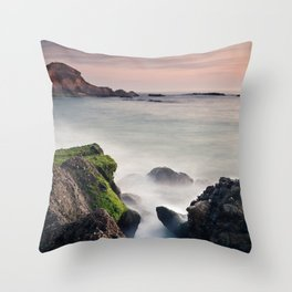 The Ocean Crack Throw Pillow