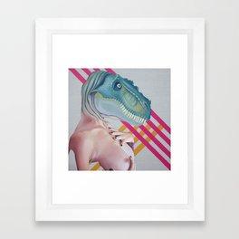 Queer Dinosaur Framed Art Print