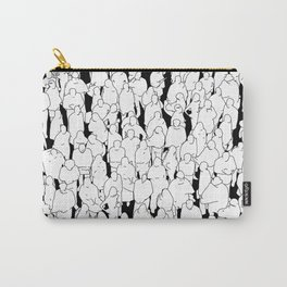 Public assembly B&W / Lineart people pattern Carry-All Pouch