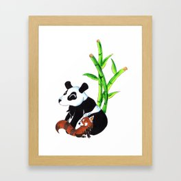 Panda Duo Framed Art Print