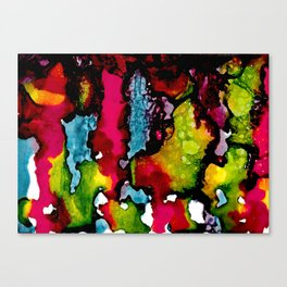 Primary Psychedelic Melt Down Canvas Print