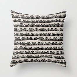 Abstract Shell Pattern Throw Pillow