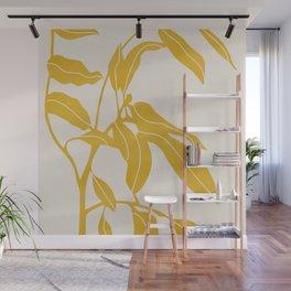 Golden Yellow Leaves #art print#society6 Wall Mural