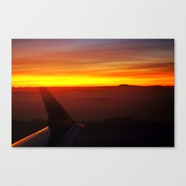Sunset at 30,000 Feet Canvas Print
