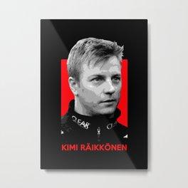 Formula One - Kimi Raikkonen Metal Print