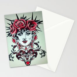 wolfs queen Stationery Cards