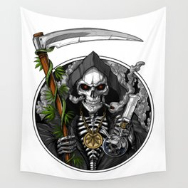 Grim Reaper Weed Stoner Wall Tapestry