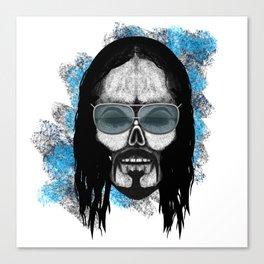 Aoki style ErrorFace Skull Canvas Print