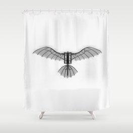 Da Vinci Flying Machine Shower Curtain