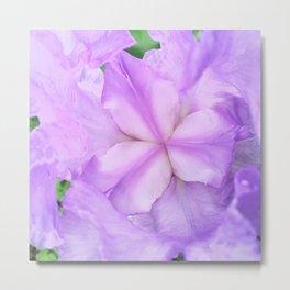 513 - Abstract Flower Design Metal Print