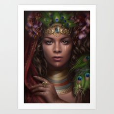 Queen of the Sun Realm Art Print