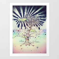 Magic Beans Art Print