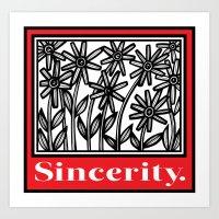 Spigelmyer Flowers Red White Black Art Print