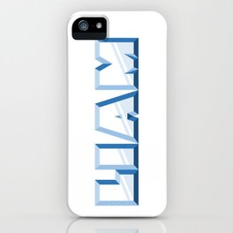 """""""LIAM"""" first name blue pattern iPhone Case"""