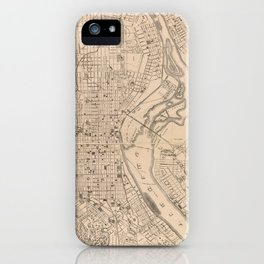 Vintage Map of Louisville Kentucky (1873) iPhone Case