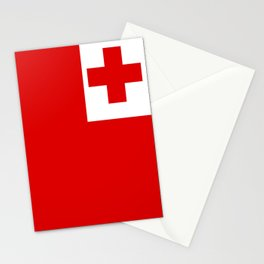 The Flag Of Tonga Stationery Cards