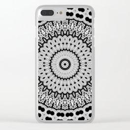 Black And White Mandala 7 Clear iPhone Case