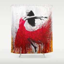 Rise Above The Flames Shower Curtain