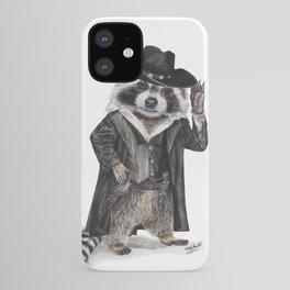 """ Raccoon Bandit "" funny western raccoon iPhone Case"