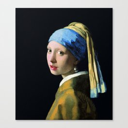 Jan Vermeer Girl With A Pearl Earring Baroque Art Canvas Print