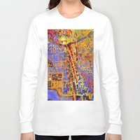 chicago Long Sleeve T-shirts featuring chicago by donphil