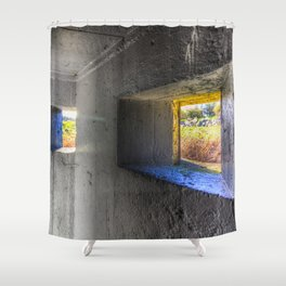 Inside The Bunker Shower Curtain