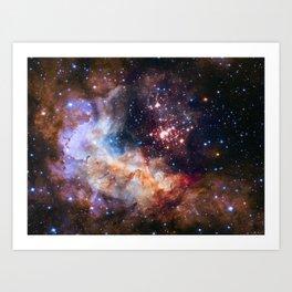 Space Nebula Galaxy Stars | Comforter Art Print