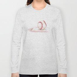 Baseball Watercolor Long Sleeve T-shirt
