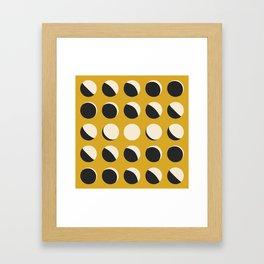 Moon Phased in Honey Framed Art Print