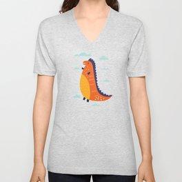 Funny Dinosaur Unisex V-Neck