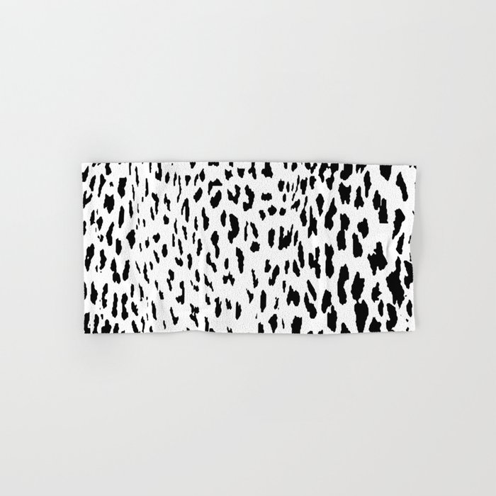 Cheetah Ii Black White Animal Print Hand Bath Towel