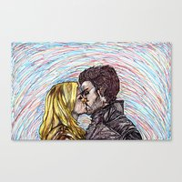captain swan Canvas Prints featuring Captain Swan by The Holga Contessa