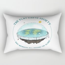The Flat Earth has members all around the globe Rectangular Pillow